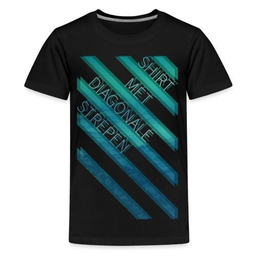 Diagonale strepen tienershirt - Teenager Premium T-shirt