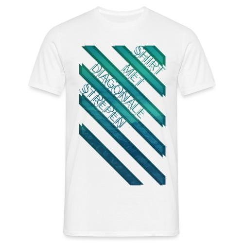 Diagonale strepen mannen t-shirt - Mannen T-shirt
