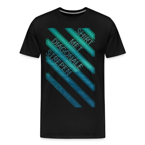 Diagonale strepen mannen premium - Mannen Premium T-shirt