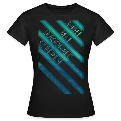 Diagonale strepen vrouwen t-shirt - Vrouwen T-shirt