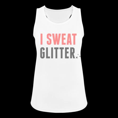 Girl Top mit Glitzer Print I SWEAT GLITTER - Frauen Tank Top atmungsaktiv