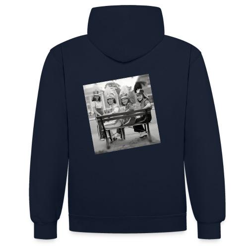 Retro Drummer Girls - Contrast hoodie
