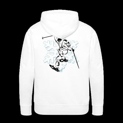 Sweat capuche randonnée raquettes - Sweat-shirt à capuche Premium pour hommes