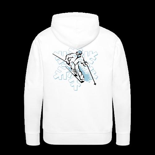 Sweat capuche Ski - Sweat-shirt à capuche Premium pour hommes