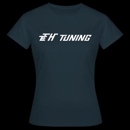T-Shirt Ladies Logo Dunkelblau - Frauen T-Shirt