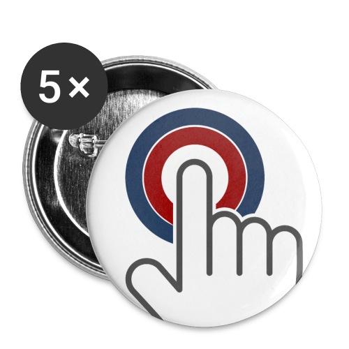 Button (32mm) - Buttons mittel 32 mm (5er Pack)