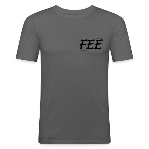 Tee shirt près du corps Homme - gris foncé - logo noir - T-shirt près du corps Homme
