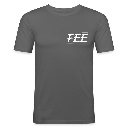 Tee shirt près du corps Homme - gris foncé - logo blanc - T-shirt près du corps Homme