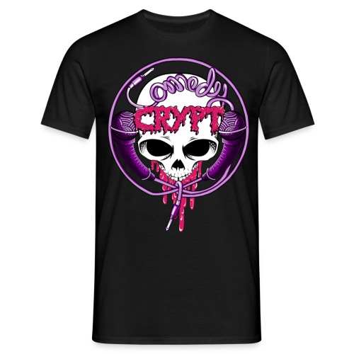 Black Comedy Crypt Skull Tee by Steve Turney - Men's T-Shirt