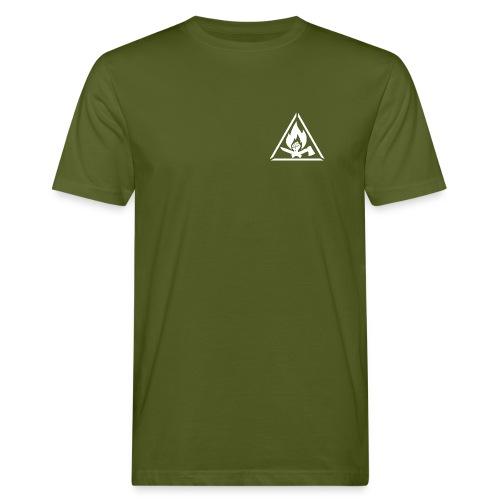TS_weiß-auf-gruen_BSP_Front - Männer Bio-T-Shirt