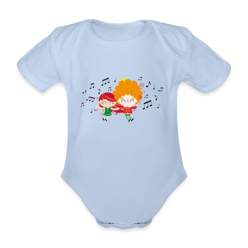 Happy dance - Organic Short-sleeved Baby Bodysuit