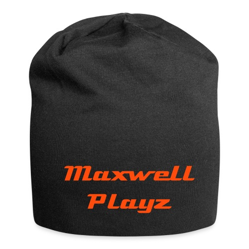 Maxwell Playz - Black and Orange Beanie - Jersey Beanie