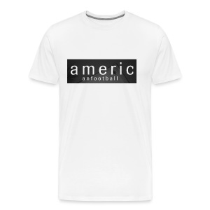 American Football House White Shirt - Men's Premium T-Shirt