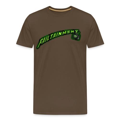 Failtainment_TV Logo pure brown - Männer Premium T-Shirt