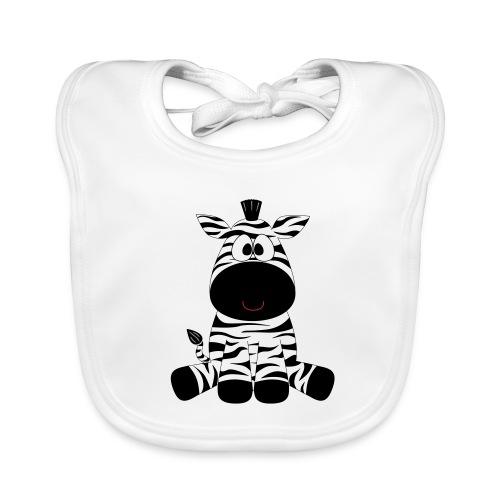 Bio Babylätzchen Zebra - Baby Bio-Lätzchen