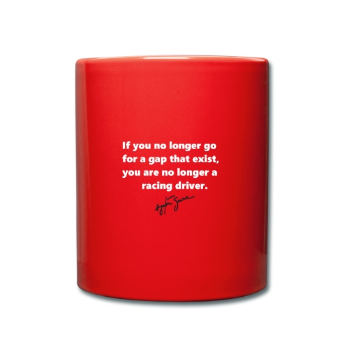 JvH Racing Coffee Cup Quote Senna - Full Colour Mug