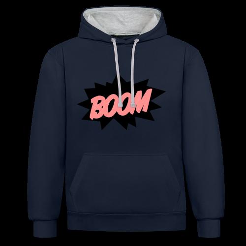 Der BOOM Hodie  - Kontrast-Hoodie