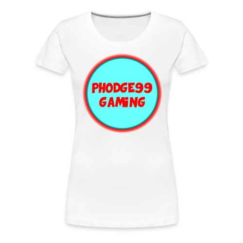 Phodge99gaming T-shirt (Red & Blue) Female - Women's Premium T-Shirt