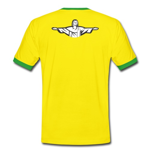 Brazil Themed T-Shirt - Men's Ringer Shirt