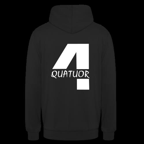 Sweat Quatuor - Sweat-shirt à capuche unisexe