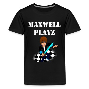 MaxwellPlayz Manga Design - Teenage Premium T-Shirt