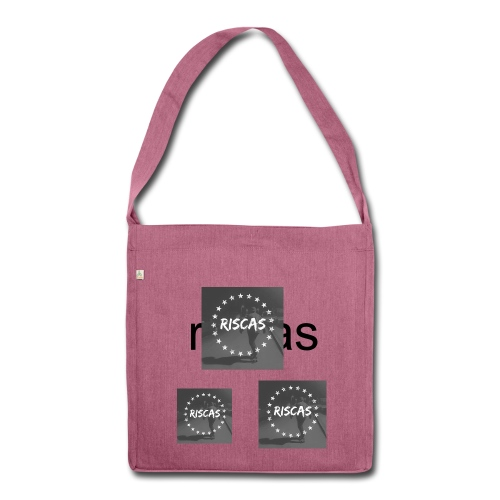 womans riscas bag - Shoulder Bag made from recycled material