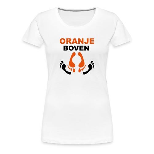 Oranje boven: Koningsdagshirt voor vrouwen - Vrouwen Premium T-shirt