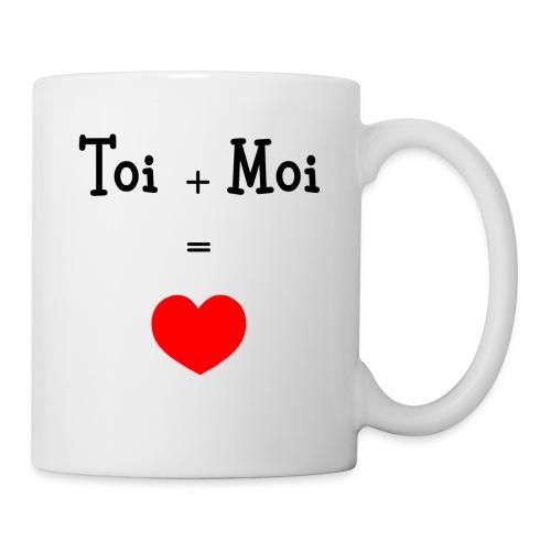 Tasse blanche Cœur Toi + Moi - Mug blanc