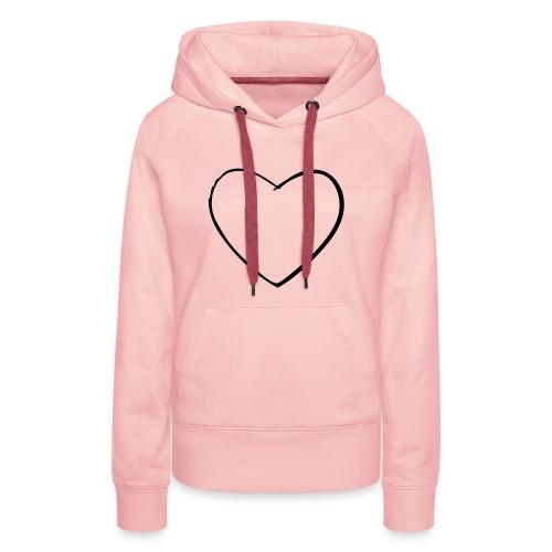 Heart-Hoodie - Frauen Premium Hoodie