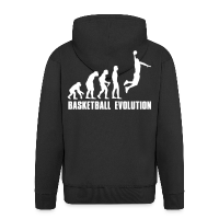 Men's Premium Hooded Jacket with design Evolution Basketball Dunk