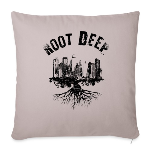 Root deep Urban schwarz Sonstige - Sofakissenbezug 44 x 44 cm