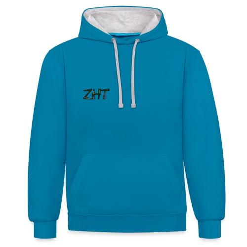 Zombiehit Hoodie Blue - Contrast Colour Hoodie