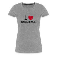 Women's Premium T-Shirt with design I love Basketball