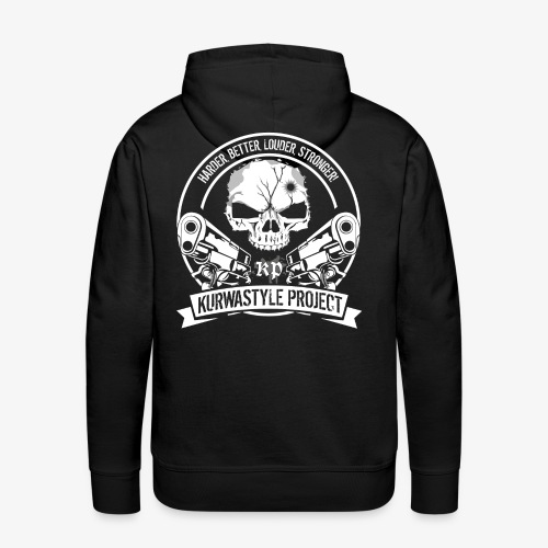Kurwastyle Project Hoodie - Skull - Men's Premium Hoodie