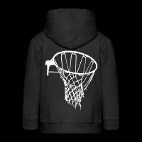 Kids' Premium Zip Hoodie with design Basketball Net
