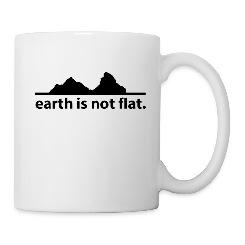 Kaffee-Tasse Earth is not flat - Tasse