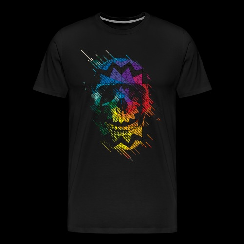 geometric skull - Men's Premium T-Shirt