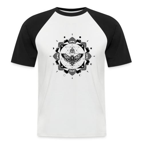 'TOTENKOPFMOTTEMANDALA' - T-Shirt mit abgesetzten Ärmeln - Männer Baseball-T-Shirt