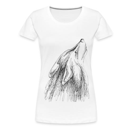 Heulender Wolf, Shirt - Frauen Premium T-Shirt