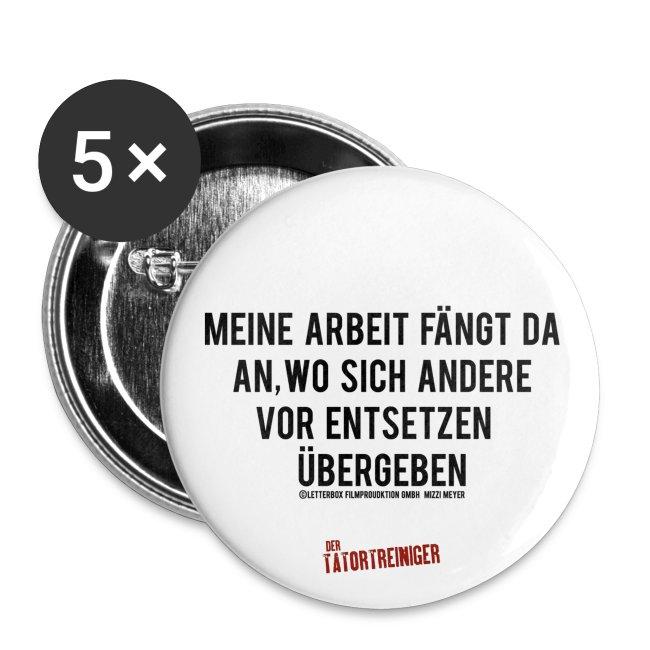"""Der Tatortreiniger - Button """"Arbeit"""""""