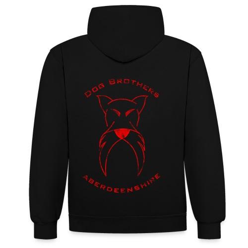 club hoodie red - Contrast Colour Hoodie