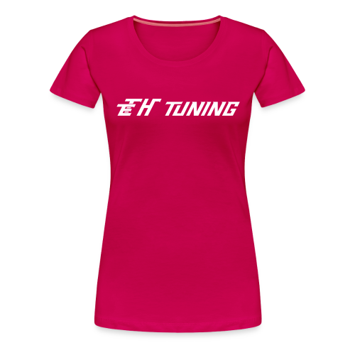 T-Shirt Ladies Logo Pink - Frauen Premium T-Shirt