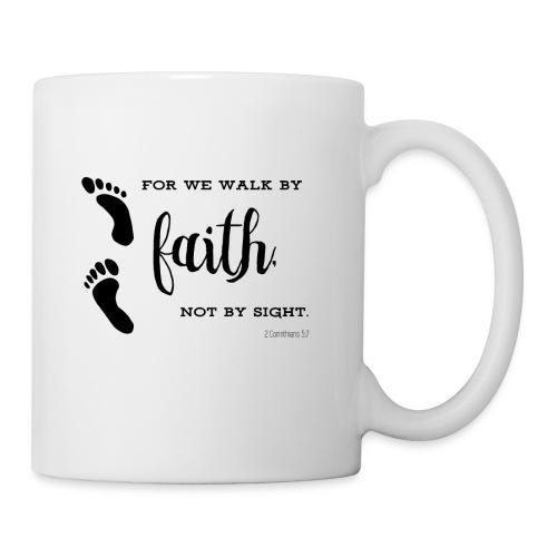Walk by faith footprints Tasse - Tasse