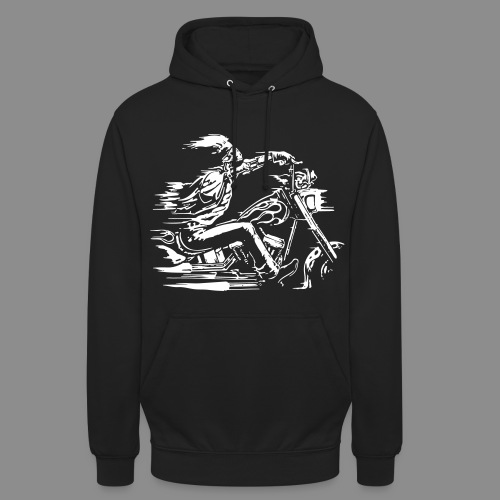 Motorcycle Skull - Sudadera con capucha unisex