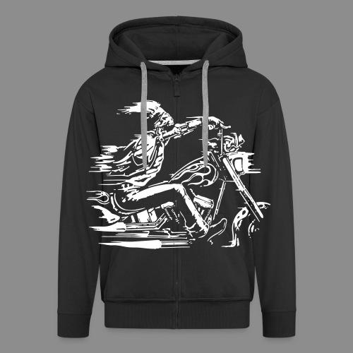 Motorcycle Skull - Chaqueta con capucha premium hombre