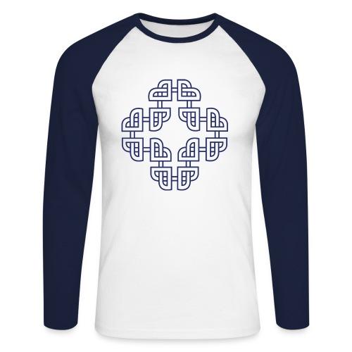 Hjartleik - Navy Blue - Langermet baseball-skjorte for menn