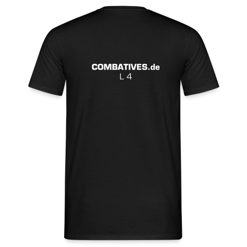Level 4 Logo COMABTIVES.de, KRAV GROUP, KAPAP, KRAV MAGA - Männer T-Shirt