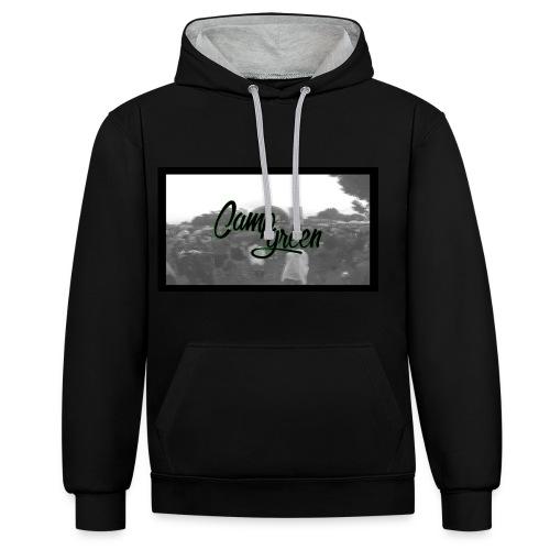 CampGreen Skyline Hoddie 2Colors - Kontrast-Hoodie