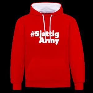 (Witte) #SjattigArmy Sweater - Contrast hoodie
