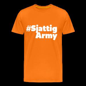 (Witte) #SjattigArmy Shirt - Mannen Premium T-shirt